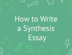 How is synthesis used in a research paper